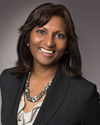 Head shot picture of Indira Naidoo-Harris who is the Minister Responsible for Early Years and Child Care