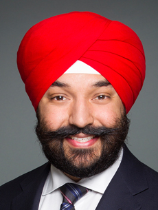 The Honourable Navdeep Bains, Minister responsible for CED