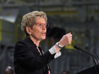"""Ontario Premier Kathleen Wynne says she's """"pleased"""" the state of New York has dropped proposed Buy American provisions from its state budget."""