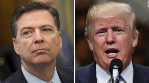 James Comey and Donald Trump side by side