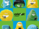 Cricket Wireless poster with monsters holding a phone