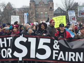 Fight for fairness sign protesting minimum wage