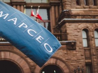 AMAPCEO Flag outside a building captured by GTA weekly Toronto News