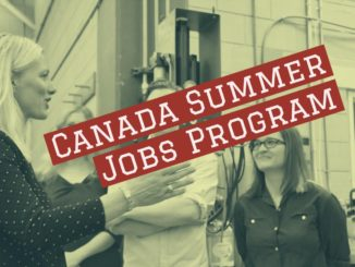 Canada summer jobs program poster illustrated by GTA weekly Toronto news