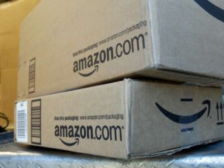 Amazon boxes from the new location in Toronto