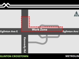 Eglinton Crosstown Enbridge gas distribution line relocation map show by GTA weekly Toronto news