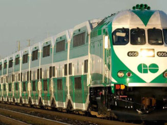 Go train rail transit captured by GTA weekly Toronto news