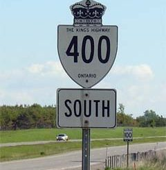 Highway 400 sign captured by GTA weekly Toronto news